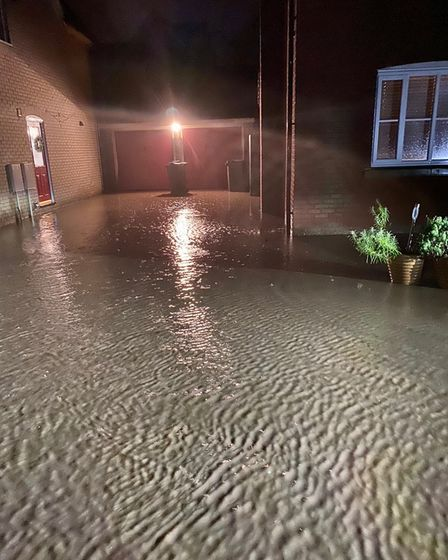 Flooding in Horsford last Christmas saw properties fill up with water