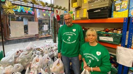 Trevor Saunders and Lisa Agogue, who volunteer at Mandalay Wellbeing CIC down Victoria Arcade.