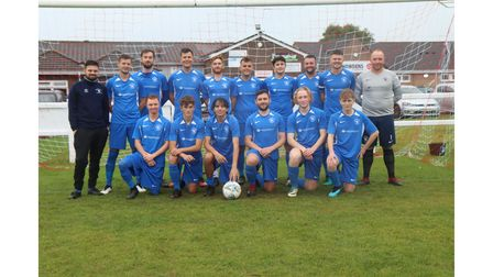 All smiles for Winscombe AFC as they pose for the camera.
