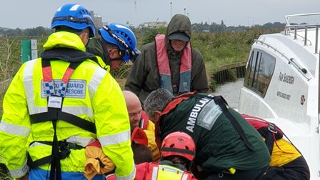 Thecoastguard,ambulanceand fire servicewere called to reports of an injured person on the River Yare nearReedham.