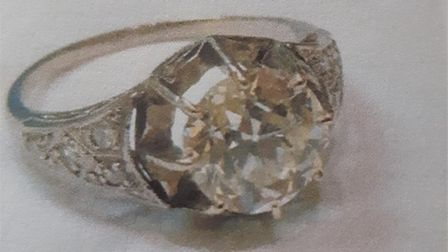 A ring of sentimental value was taken in the burglary