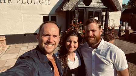 Sean, Rachel and Tim Hughes are saying farewell to The Plough at Sleapshyde.