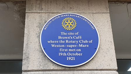 Weston Rotary Club celebrates 100 years with blue plaque.