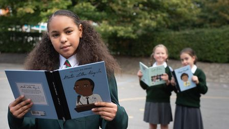 Three friends at St Margarets Primary School have formed a Black history book club. Aniah wanted to