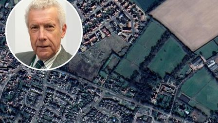 Cllr Nigel Dixon and a bid to build 43 homes off Yarmouth Road in Stalham.