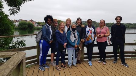 Flying from Brent group at Welsh Harp where Amanda Epe's Amy Johnson monologue was performed