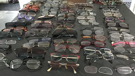 Glasses collected by Wisbech Lions Club