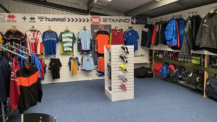 The sports clothing section in NorfolkFootball