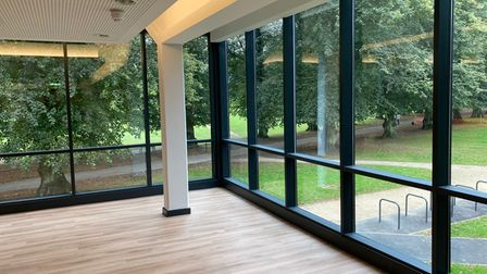 Harpenden's new Eric Morecambe Centre - the main function suite.