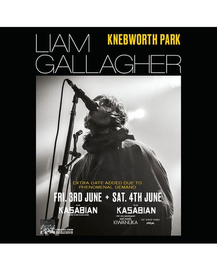 Liam Gallagher has added a second date at Knebworth Park for Friday, June 3, 2022.