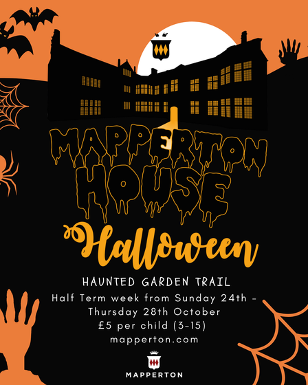 Poster of a Hallowe'en event at Mapperton House