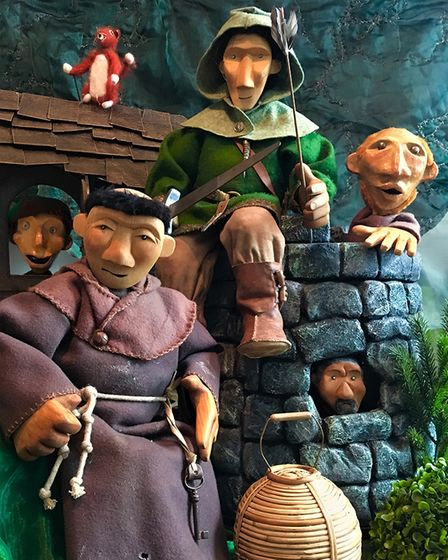 Puppets of Robin Hood and Friar Tuck