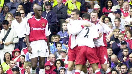 Andy Hunt scored twice against Arsenal in the Premier League