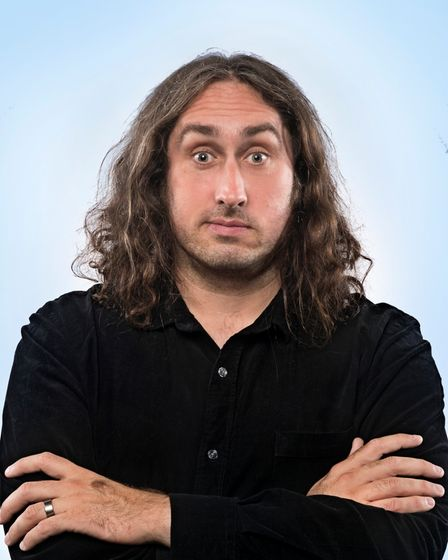 Ross Noble, looking bizarrely sensible, is performing at the Ipswich regent this coming thursday