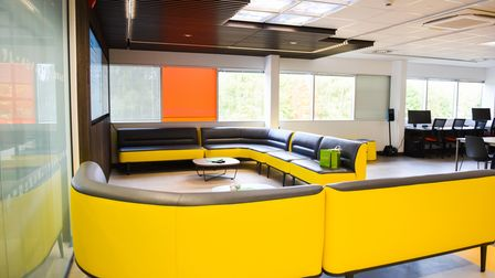 A seating area at the new research and development centre