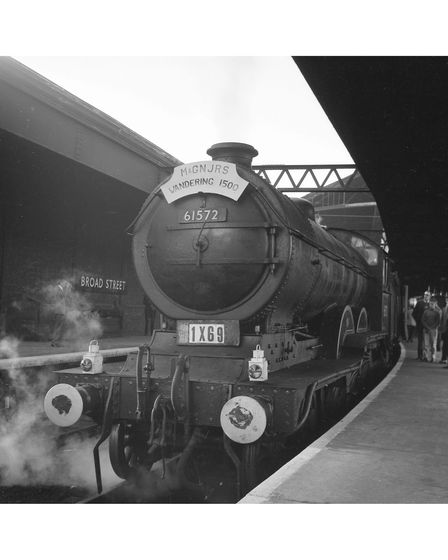 An image at Broad Street Station, London, on the Wandering 1500 rail tour in 1963.