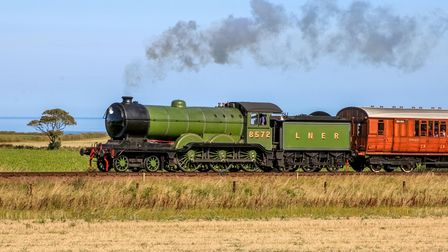 Steaming along on the North Norfolk Railway.
