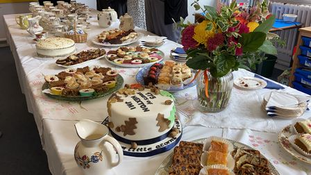The Hexton community put a sweet spread together in celebration of the primary school's 175th birthday
