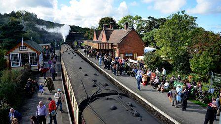 1940's weekend at the North Norfolk Railway along the poppy line from Sheringham to Holt.Picture
