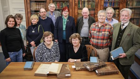 Gibson Library Society Committee Members and volunteers with Saffron Walden Quakers