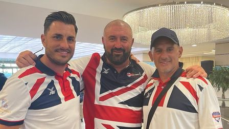 Carl Boreham, Glyn Cooke and Adam Spratt were all part of the GB squad at the European Footgolf Tournament.