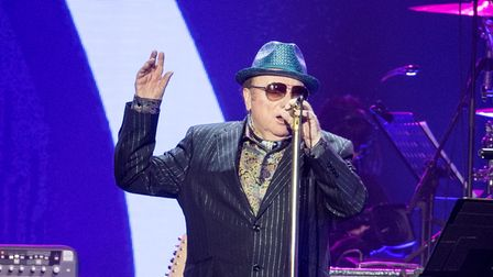 Van Morrison on stage during the Music For The Marsden concert held at the O2 Arena, London.