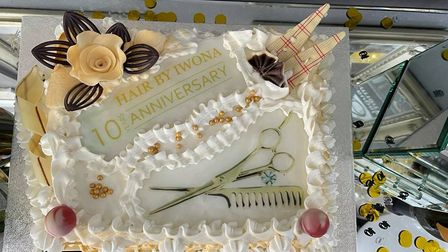 Cake make especially for the 10 year anniversary