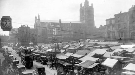 Norwich Market, 1932. Picture: Archant Library