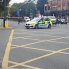 The road block in Holloway Road after the incident