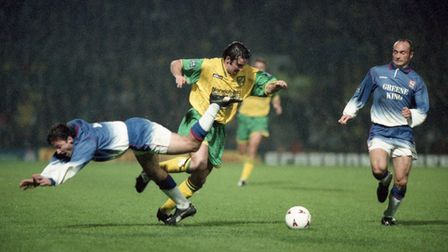 NCFC v Ipswich Town (3-1) on 11th October 1996. Photo: Archant Library