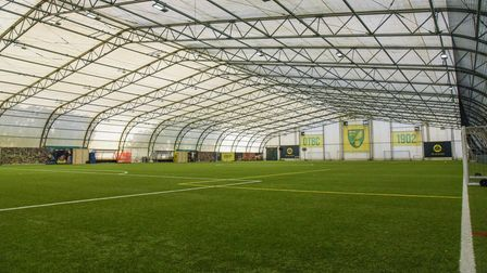 An indoor football pitch at the Lotus Training Centre in Norwich. Picture: Danielle Booden