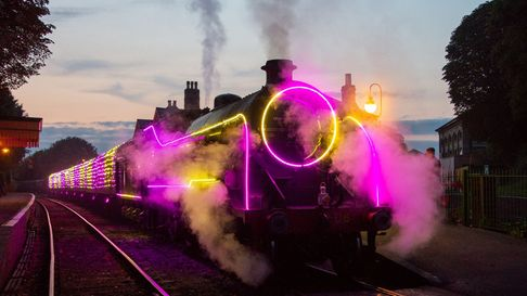 The Watercress Line Steam Illuminations in Hampshire