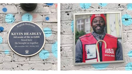 Kevin Headley has been immortalised with a blue plaque