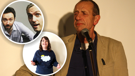 Arthur Smith andKatie Pritchard will joinDoggett & Ephgrave at this month's Hitchin Mostly Comedy show.
