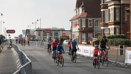 The 10k fun cycle ride led by Breeze arriving during FelixFest