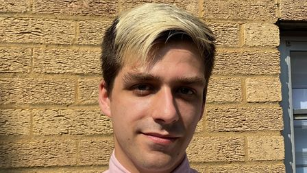 Alexander Catt, who was recently the victim of a homophobic attack in Norwich