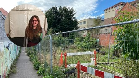 Green Party councillor Ash Haynes is calling for the community garden between Rose Lane and St Johns Street to be reinstated