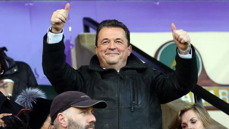 Norwich Chief Executive Jez Moxey before the Sky Bet Championship match at Carrow Road, Norwich Pic