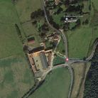 An aerial view of Stody, a village in north Norfolk