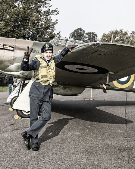Getting in the spirit of things at the IWM Duxford Flying Days: Best of 2021 event.