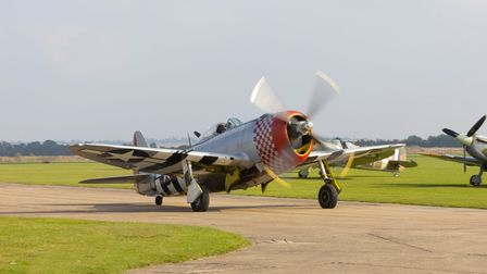 P-47 Thunderbolt at IWM Duxford'sFlying Days: Best of 2021 event.