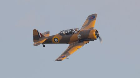North American Harvard 'Wacky Wabbit' at the IWM Duxford Flying Days: Best of 2021 event.