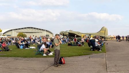The crowd at the IWM Duxford Flying Days: Best of 2021 event.