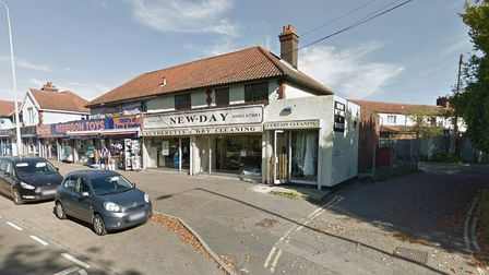 New-Day Dry Cleaners on Aylsham Road in Norwich.