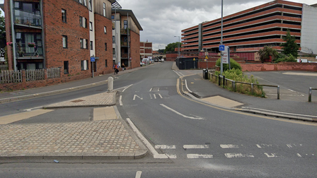 Some city buses have been diverted as a Norwich city road is closed.