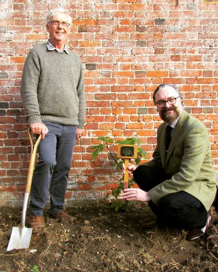 A commemorative fig tree was planted and dedicated to Prince Philip in Little Plumstead on Saturday