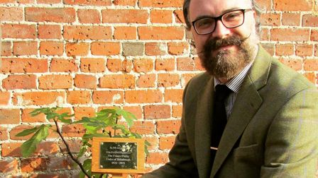 County councillor Ian Mackie has planted and dedicated a fig tree to the late Prince Philip in Little Plumstead