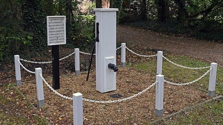 The old water pump in Easton has been preserved.