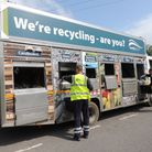 A North Devon Council recycling lorry