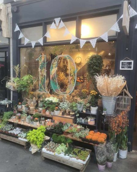 Stephanie Rose Florist in the Arcade on Arcade and West Alley Day in Hitchin